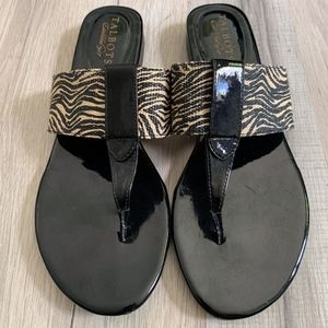 Talbots Animal Print Sandals Size 8.5